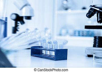 dna, analys, mikro, prov, biologisk, laboratorium, rör