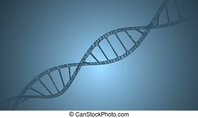 Dna and plexus on a blue background. Loop animation