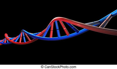 DNA Animation HD - 3d dna animation with alpha matte
