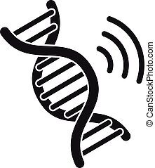 Dna authentication icon, simple style