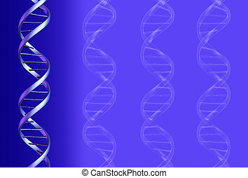 DNA Background - 3D render and graphic.
