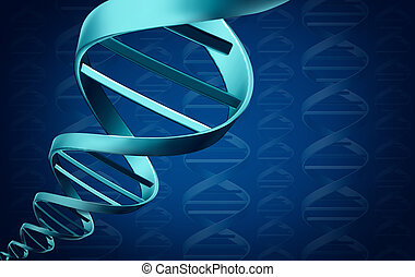 DNA Background - DNA background medical science concept as a...