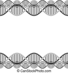 dna chain science frame