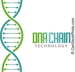 DNA chain with theards Logo Ilustration