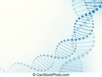 DNA chromosome concept. Science technology vector background for biomedical, health, chemistry design. 3D style