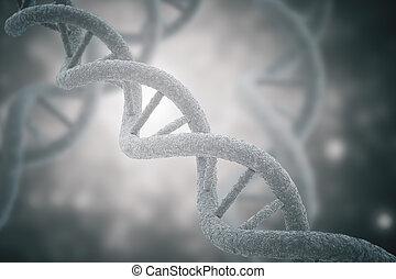 DNA closeup grey background - DNA closeup on grey...