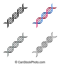 The genetic code illustration with double helix and human dna code icon cartoon single medicine icon from the big medical healthcare cartoon sciox Image collections