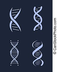DNA Deoxyribonucleic Acid Chains Set, Nucleotide - DNA...