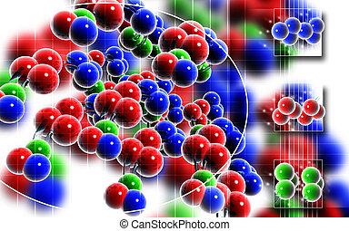 DNA - Digital illustration DNA structure in colour...