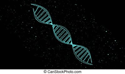 DNA digital structure science biotechnology animation 3D rotate