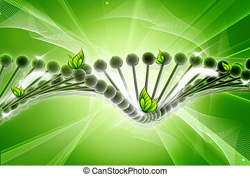 DNA - Dna with butterfly. conceptual design