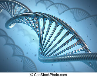 DNA Genetic Engineering - 3D illustration, concept of ...
