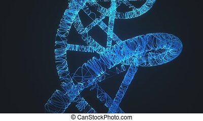Dna Helix 4k. High quality 4k footage
