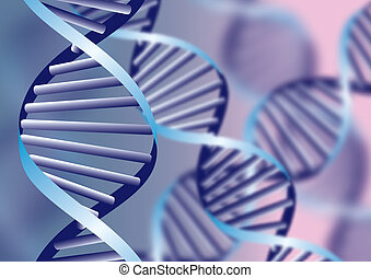 DNA helix, biochemical abstract background with defocused...