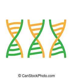 DNA helix icon on a white isolated background. Vector image