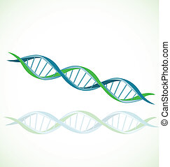 DNA icon logo - DNA icon vector stock