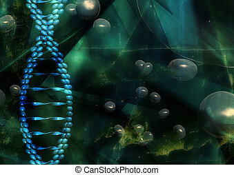 DNA Illustration - medical, three dimensional illustration ...