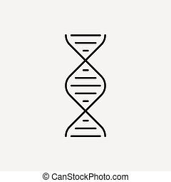 DNA line icon