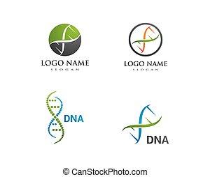 DNA logo vector