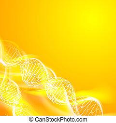 DNA magic figures. - DNA magic figures against orange...