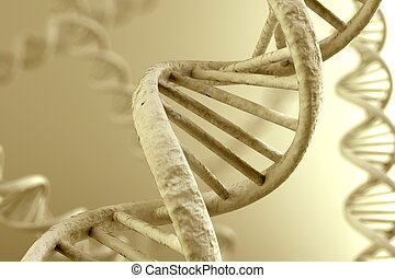 DNA Magnification - DNA double helix. High resolution 3d ...