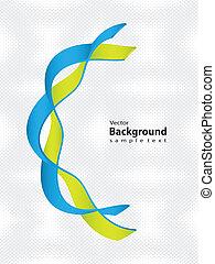 dna, medicinsk, -, design, speciell, bakgrund, tråd