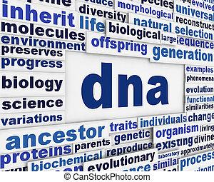 Dna message background