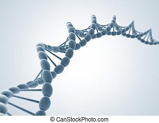 DNA model - High resolution 3d render of human dna string
