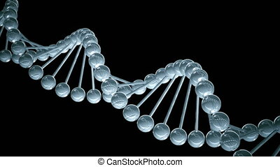 DNA model science Background - Loopable 3D Animation on black
