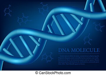 DNA molecule background. Vector illustration.