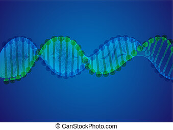 DNA Molecule Background.