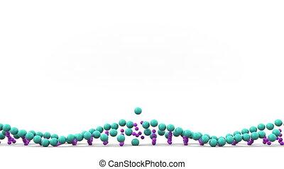 DNA molecule ball model falls and breaks. Genetic disease or...