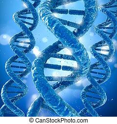 DNA molecule concept, Medical accurate 3D illustration
