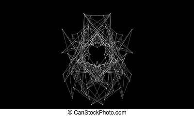 DNA Molecule Fractal Network Structure. Abstract network...