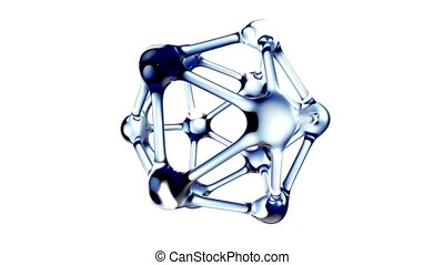 DNA molecule in water 3d illustration over white background....