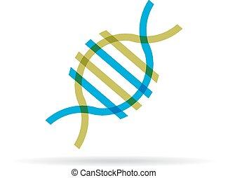 dna, molecule, pictogram