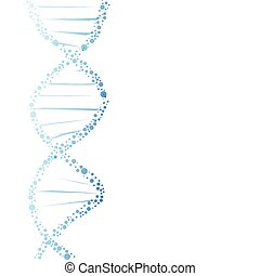 DNA molecule structure on the white background.