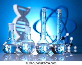 DNA molecules, atom, Laboratory