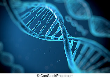 DNA molecules on the beautiful background