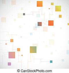 dna, netwerk, kleur, verbinding, vector, atoom