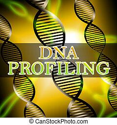 Dna Profiling Shows Genetic Fingerprinting 3d Illustration