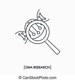 dna, ricerca, concetto
