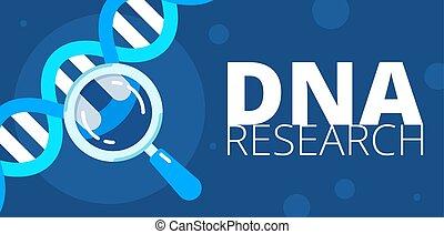 dna, ricerca, illustrazione