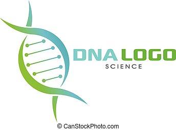DNA science Logo illustration