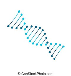 Dna sign icon on white background