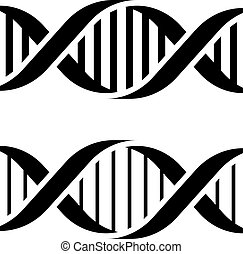 DNA simple black symbols - illustration for the web