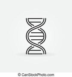 Dna spiral vector outline concept icon