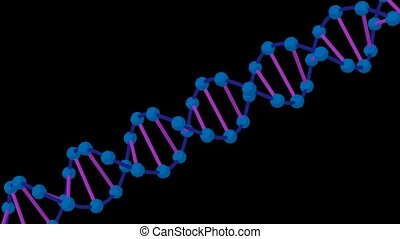 DNA on a black background