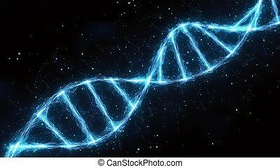 dna strand double helix illustration
