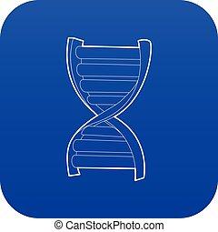 DNA strand icon blue vector